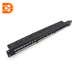 24 Ports UTP Blank Patch Panel with cable management