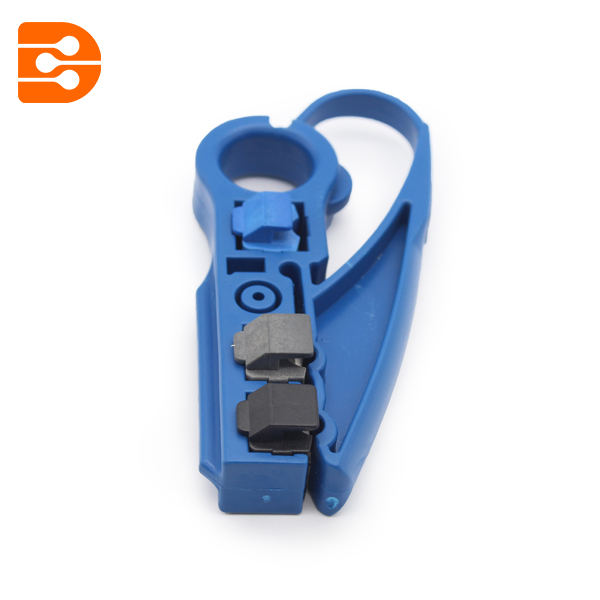 Coaxial Cable Stripper With Two Blades Model