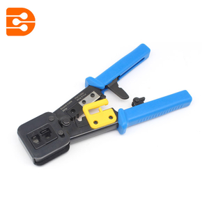 RJ11 & RJ45 Feedthrough Modular Connector Crimp Tool