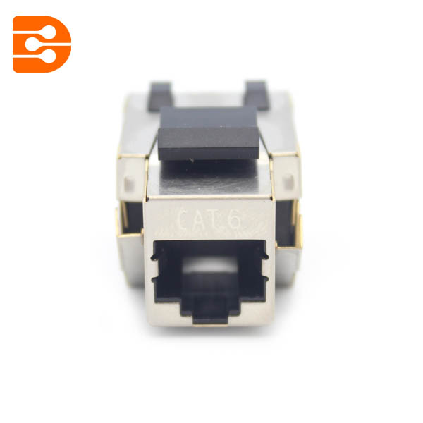 Toolless CAT 6 Shielded Keystone Jack 90 Degree 110 Type
