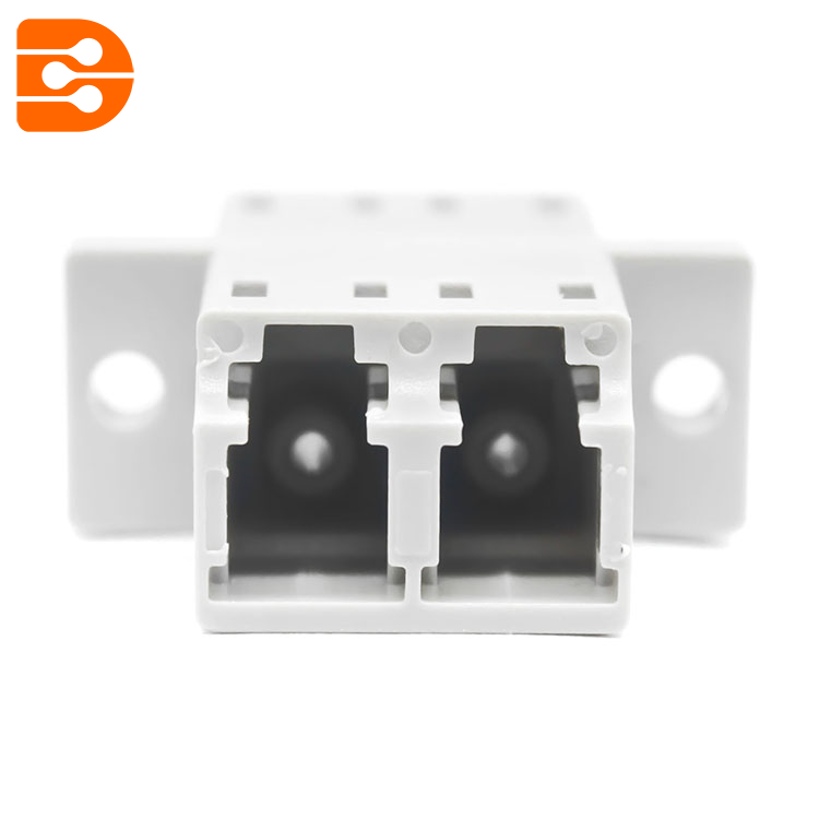 LC/PC Duplex Adapter with Flange