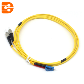 Duplex LC/UPC to FC/UPC SM Fiber Optic Patch Cord