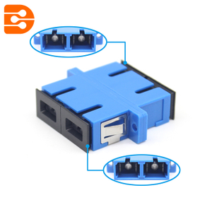 SC/UPC Duplex Adapter with Flange