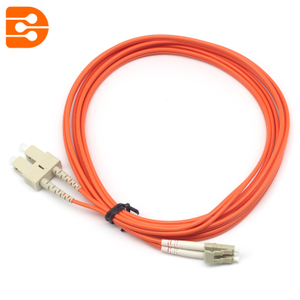 Duplex SC/PC to LC/PC OM1 MM Fiber Optic Patch Cord