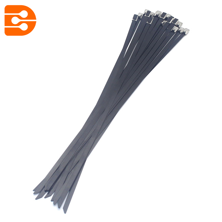 Stainless Steel Epoxy Coated Cable Tie with Ball Lock