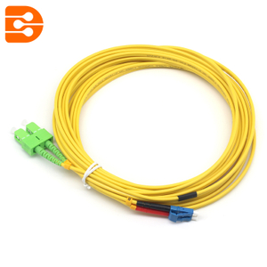 Duplex LC/UPC to SC/APC SM Fiber Optic Patch Cord