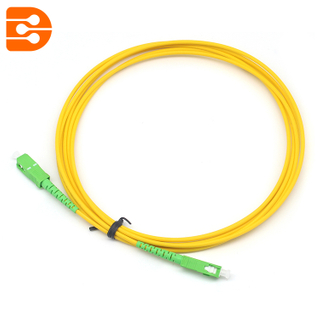Simplex LC/APC to LC/APC SM Fiber Optic Patch Cord