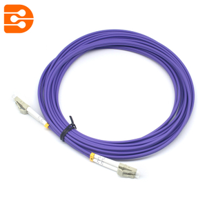 Duplex LC/PC to LC/PC OM4 MM Fiber Optic Patch Cord