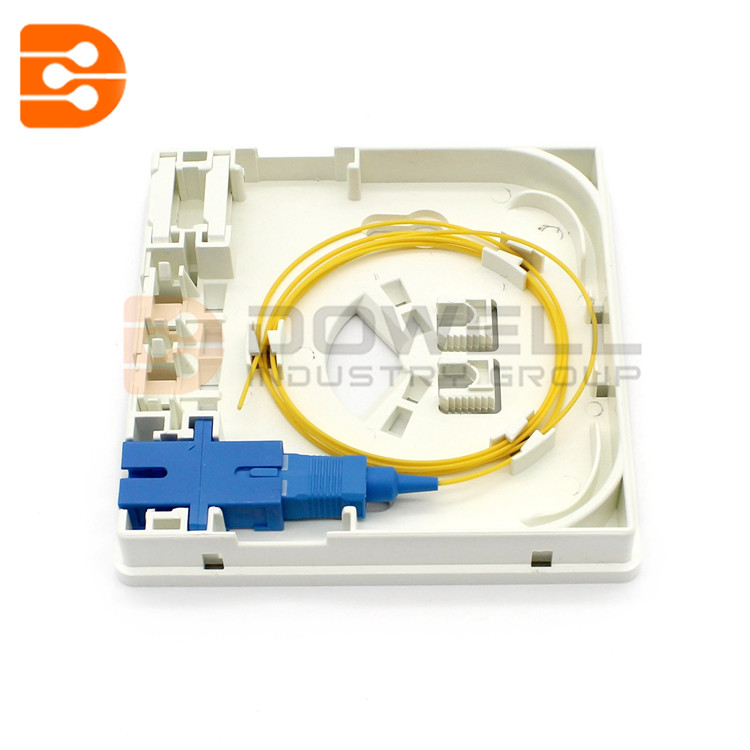 DW-1082 2 Fiber Wall Outlet Box with 2 SC Ports