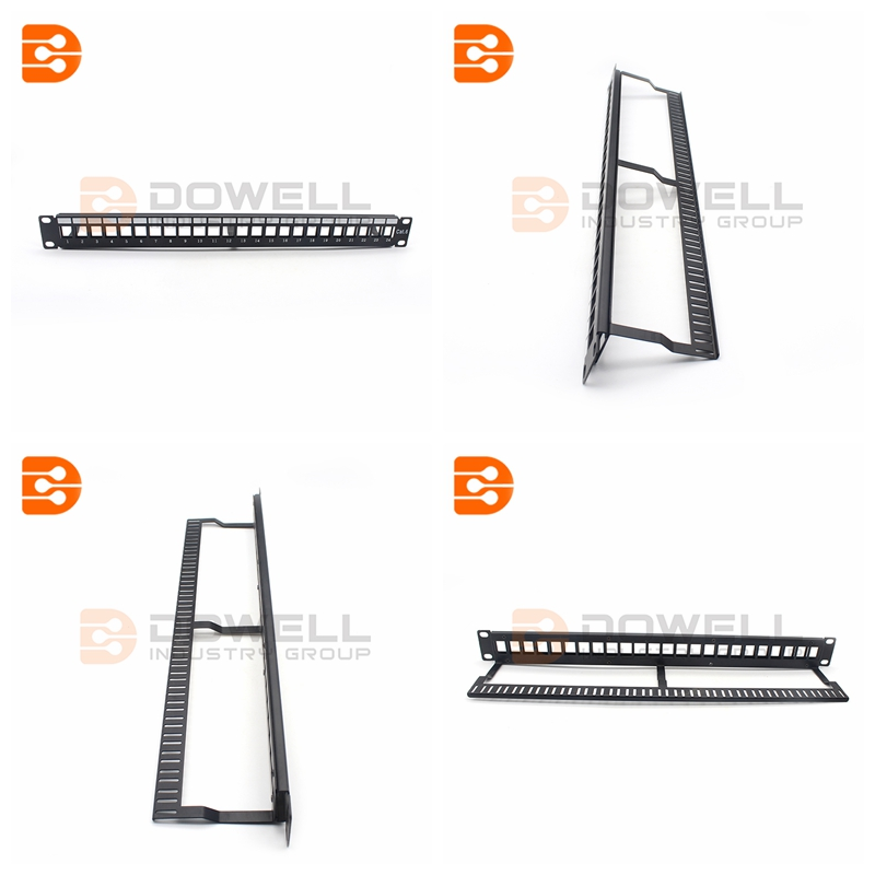 24 Port UTP Blank Patch Panel 1U