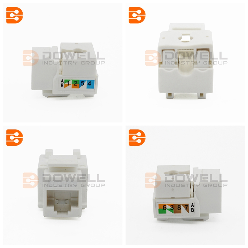 DW-7006 RJ45 STP Cat6 90 Keystone Jack For Faceplate