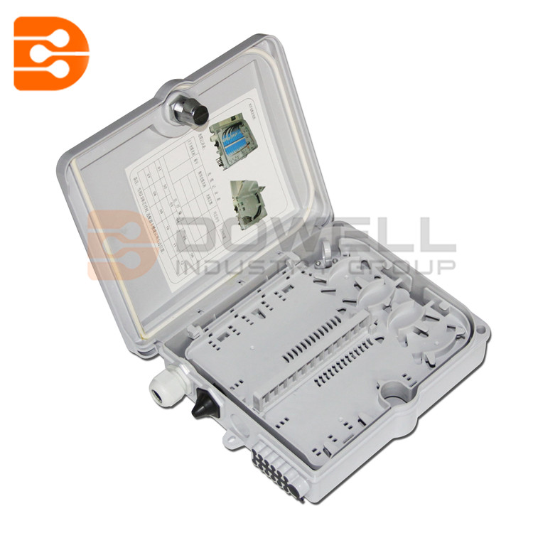 DW-1209 FTTH 12 Cores Termination Box Fiber Optic FTTH Box Fiber Optic Distribution Box with 12pcs Adaptor and Pigtails