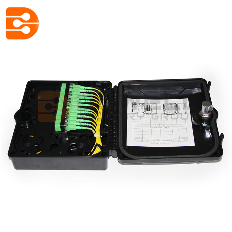 DW-1210 12 Port FTTH Fiber Optic Termination Box ,1X12 Core Outdoor Fiber Optical Splitter ,Drop Cable Distribution Box