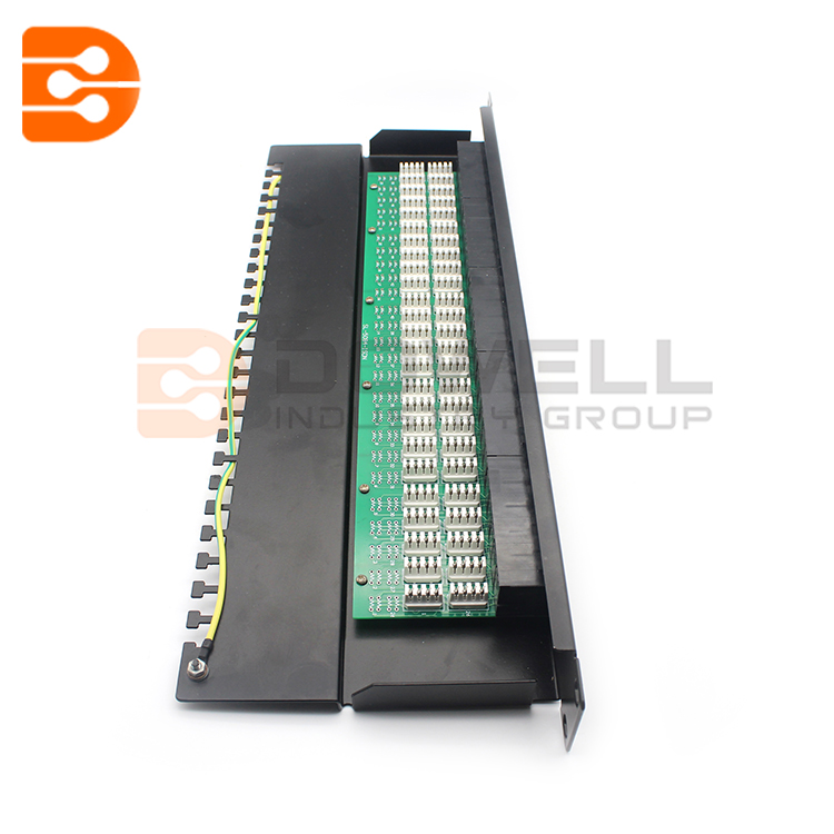 Cat3 50 Port RJ45 Voice Patch Panel UTP 1U Black