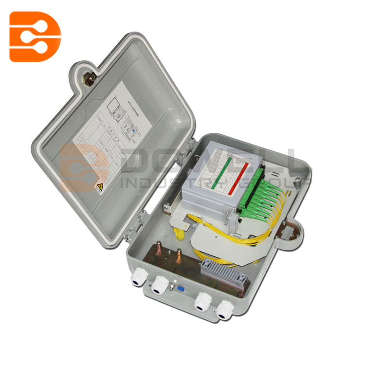 DW-1215 Fiber Distribution Cabinet 16 Core , IP55 FTTH Optical Distribution Box