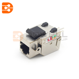 Color Customized Rj45 Shielded Jack , UTP 90 Degree Cat6 Toolless Keystone Jack