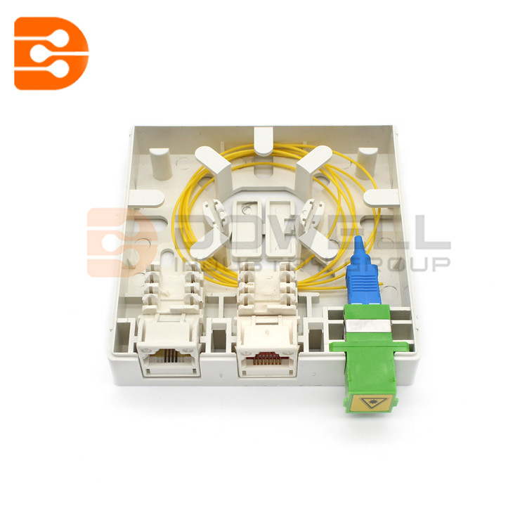 DW-1080 3 Ports FTTH Indoor Hybrid Fiber Optic Socket Panel