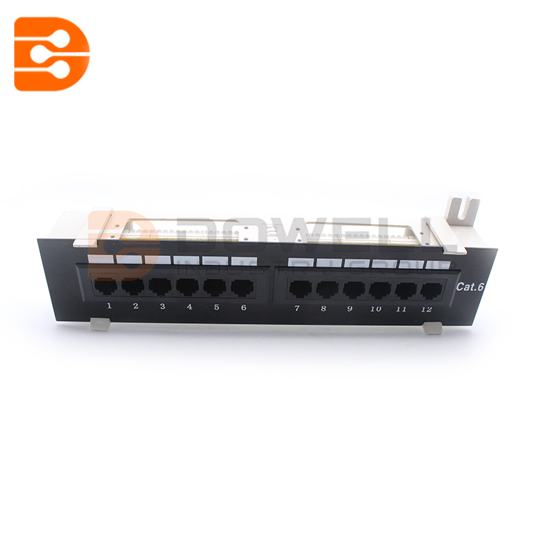 12-Port Cat6 Wall-mount Patch Panel