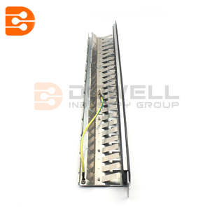 24-Port 1U Rack-Mount STP Shielded Cat6 /Cat5 Feedthrough Patch Panel