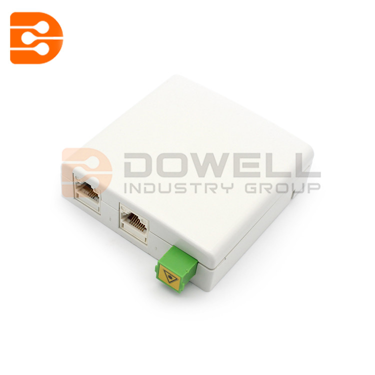 DW-1080 Hybrid Outlet for SC Adaptor & RJ Jacket