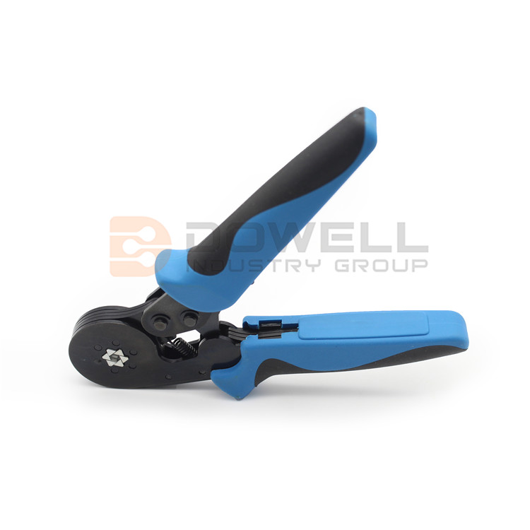 DW-8052 Insulated Pin Terminal Crimping Tool With Six Serrated Crimp Surfaces