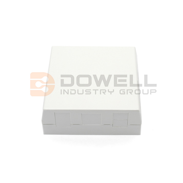 DW-1043 Fiber Optical socket 8686 FTTH for 4 simplex SC / E2000 / 8x LC + 1x RJ-45