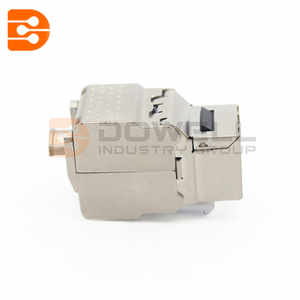 Metal 10G shielded CAT6A RJ45 180 degree tool-less data keystone jack module