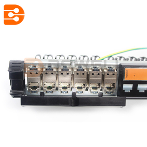Cabling system LCS category 6A patch panels, blocks of connectors