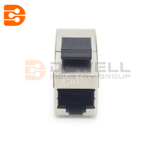 Cat6A Shielded Snap-In Inline Coupler Keystone Jack