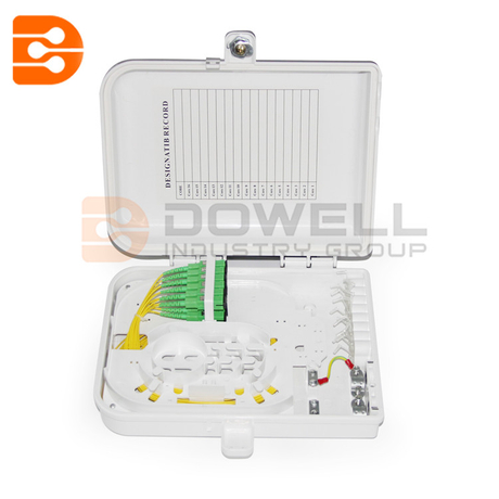 DW-1211 Fdb 12 Core Plastic Waterproof Fiber Optic Distribution Box
