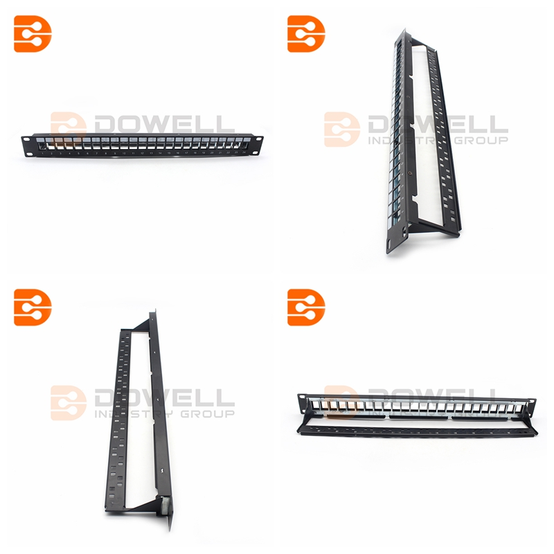 24 Port Blank Keystone Patch Panel