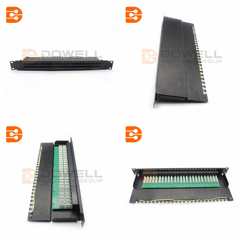 Category 3 UTP 1U Patch Panel 50 Port