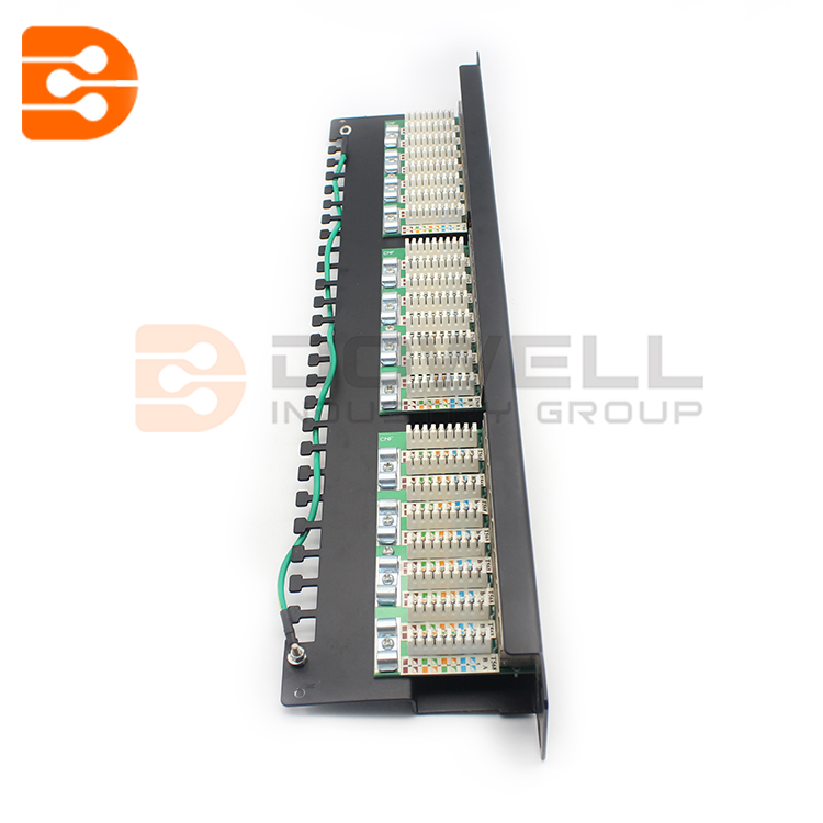 24 Port Cat6a FTP Shielded CCS 20/20 Right Angled Patch Panel